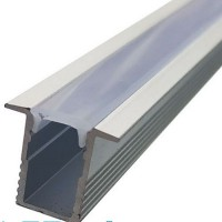 Комплект узкий алюминиевый профиль X1203 + матовый рассеиватель A1203