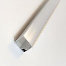 Комплект алюминиевый профиль X1401Q + матовый рассеиватель A1401Q   16 мм х 16 мм, м