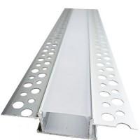 Комплект алюминиевый профиль врезной X1601 и матовая линза A1601