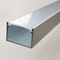 Комплект алюминиевый профиль Х2101 и матовая линза А2101 размером 18 мм х 13 мм