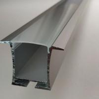 Комплект алюминиевый профиль Х2103 и матовый рассеиватель А2103 размер 36 мм Х 26 мм