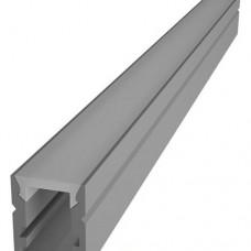 Комплект алюминиевый профиль X1202 + матовый рассеиватель A1202, м