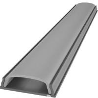 Комплект гибкий алюминиевый профиль  X1301 + матовый рассеиватель A1301 для светодиодного светильника