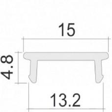 Линза матовая рассевающая плоская A202P для светодиодного светильника из профиля X200