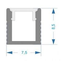 Комплект алюминиевый профиль X1201 + матовый рассеиватель A1201