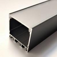 Алюминиевый профиль черный  X1501В + матовый рассеиватель A1501