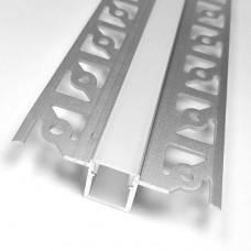 Комплект алюминиевый профиль X1604 + матовый рассеиватель  A1604, м
