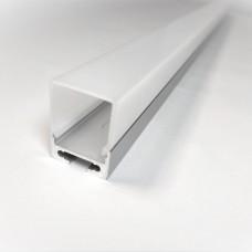 Комплект алюминиевый профиль для светодиодной ленты X2303 + матовый рассеиватель A2303   20мм х 27мм
