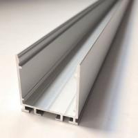 Алюмінієвий профіль X2601 + Матовий розсіювач A2601 для світлодіодних світильників | 26 мм Х 26 мм
