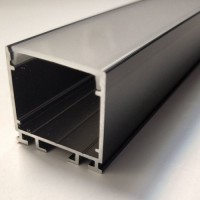 Комплект алюминиевый профиль X2601B + матовый рассеиватель A2601 | 26 мм Х 26 мм