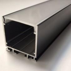 Комплект алюминиевый профиль X2601B + матовый рассеиватель A2601 | 26 мм Х 26 мм, м