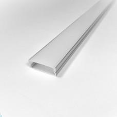 Комплект алюминиевый профиль X3101+ матовый рассеиватель A3101 для светодиодных светильников