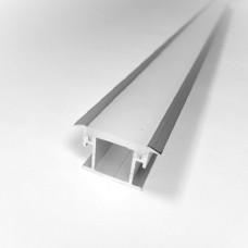 Комплект алюминиевый профиль X804 + матовый рассеиватель A804 для подсветки пола, м
